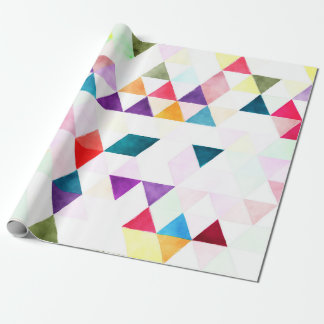 PixDezines Boho Watercolor Triangles/Geometric Wrapping Paper