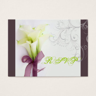 PixDezines bouquet, white calla lilies Business Card