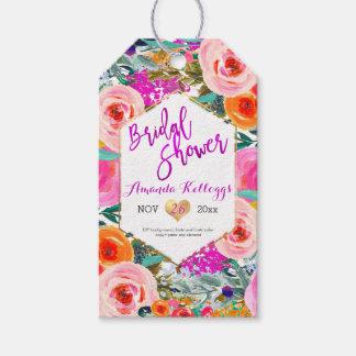 PixDezines Bridal Shower Boho Spring Floral Pack Of Gift Tags