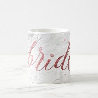 PixDezines Bride/Faux Rose Gold/Modern Script Coffee Mug