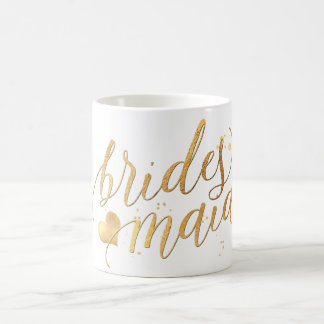 PixDezines Bridesmaid/Faux Gold/Modern Script Coffee Mug