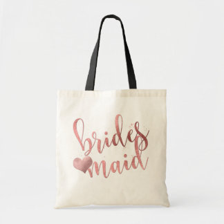 PixDezines Bridesmaid/Faux Rose Gold Script