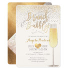 PixDezines Brunch Bubbly/Faux Silver+Gold Confetti Card