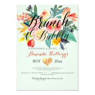 PixDezines Brunch & Bubbly Spring Floral/Coral+Min Card