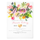 PixDezines Brunch & Bubbly Spring Floral Invitation
