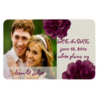 PixDezines burgundy calla save date/DIY color Rectangular Photo Magnet