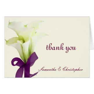 PixDezines calla lilies, wedding thank you Note Card