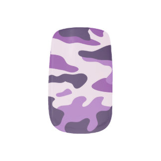 PixDezines camo/plum Minx Nail Art