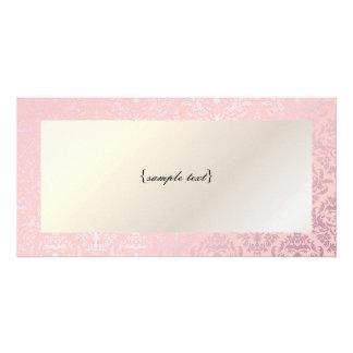 PixDezines Céline Damask, Rosequartz + Pink Photo Card
