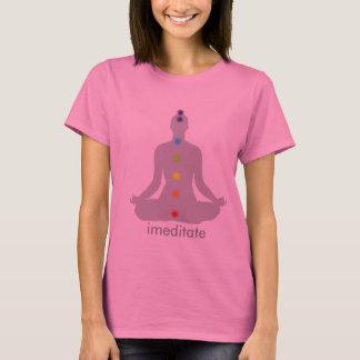 PixDezines Chakra Meditation, cusomizable T-Shirt