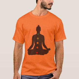 PixDezines Chakra Meditation orange t-shirt