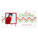 PixDezines Chevron Christmas Customized Photo Card
