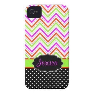 PixDezines Chevron neon color/DIY background color iPhone 4 Case-Mate Case