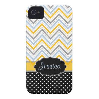 PixDezines Chevron yellow/DIY background color iPhone 4 Case-Mate Case