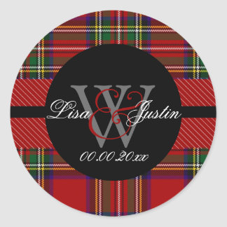 PIxDezines clan stewart tartan Classic Round Sticker