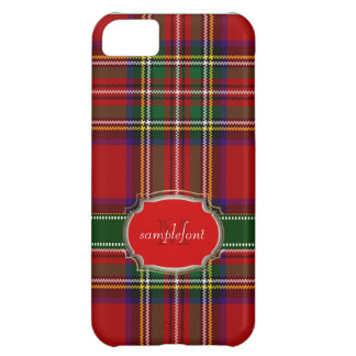 PixDezines clan stewart tartan/red+green iPhone 5C Case