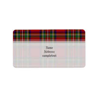 PixDezines clan stewart tartan/red+green Label
