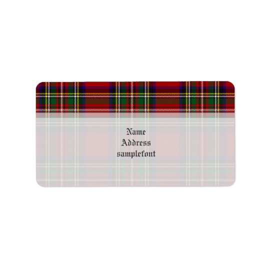 PixDezines clan stewart tartan/red+green Label
