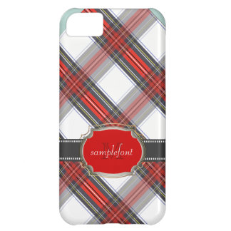 PixDezines clan stewart tartan/red+grey Cover For iPhone 5C