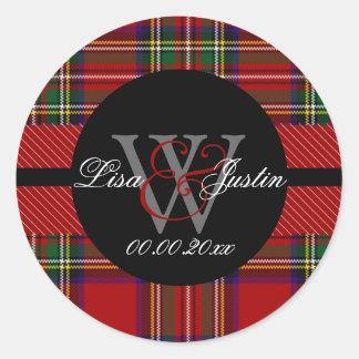 PIxDezines clan stewart tartan Round Sticker