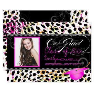 PixDezines Colorful Cheetah Spots Graduation Card