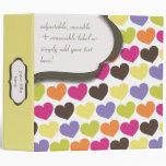 PixDezines Colourful Hearts, back to school Vinyl Binders
