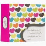 PixDezines Colourful Hearts, back to school Binder