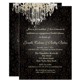 PixDezines Crystal Chandelier+arianna damask Card