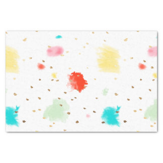 PixDezines Cupcake Sprinkles/Faux Gold Tissue Paper