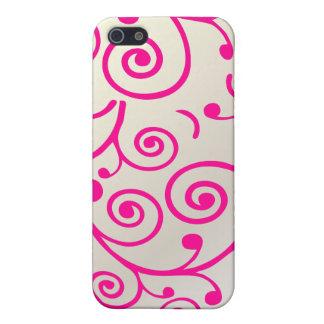 PixDezines Cupcake Swirls, hot pink+faux pearl iPhone 5/5S Cover
