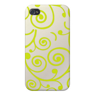PixDezines Cupcake Swirls, lime+faux pearl iPhone 4/4S Cases