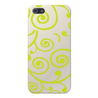 PixDezines Cupcake Swirls, lime+faux pearl iPhone 5 Case