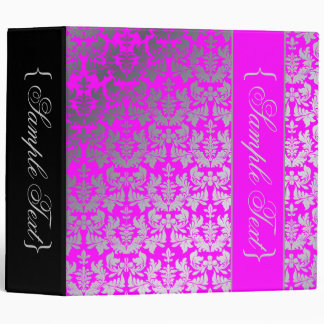 PixDezines Cutomizable color..Baroque Damask 3 Ring Binders
