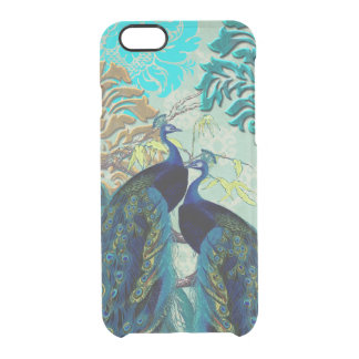 PixDezines Damask/Peacocks Clear iPhone 6/6S Case
