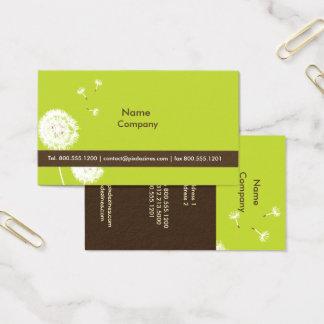 PixDezines DANDELIONS MOSS GREEN/DIY COLOR Business Card