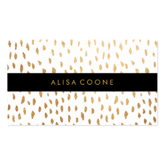PixDezines dazzled faux gold specks Pack Of Standard Business Cards