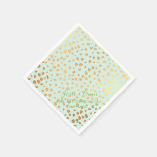 PixDezines dazzled faux gold specks/DIY color/mint Paper Napkin