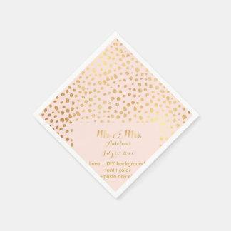 PixDezines dazzled faux gold specks/DIY Disposable Napkins