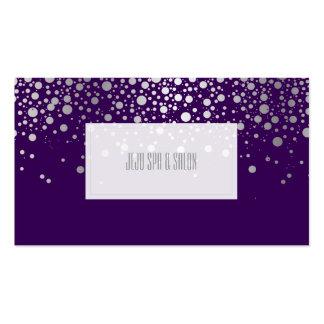 PixDezines dazzled faux silver specks Business Cards