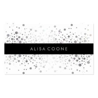 PixDezines dazzled faux silver specks Pack Of Standard Business Cards