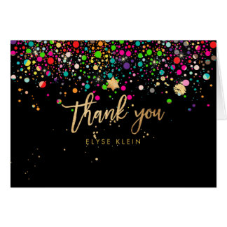 PixDezines Dazzled Rainbow Mitzvah Thank You Card