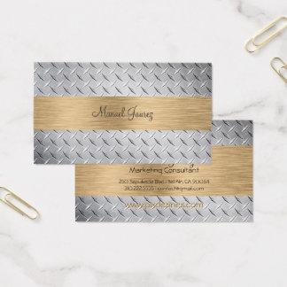PixDezines diamon cut steel plate/diy fonts Business Card