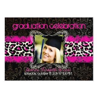 PixDezines diy 2012 graduation/cheetah 5x7 Card