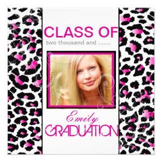 PixDezines diy 2012 graduation, cheetah Personalized Invitations