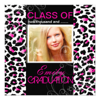 PixDezines diy 2012 graduation, cheetah Custom Announcements