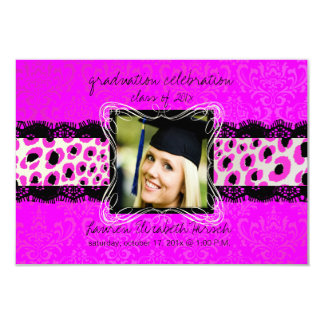 PixDezines diy 2012 graduation/leopard Invite