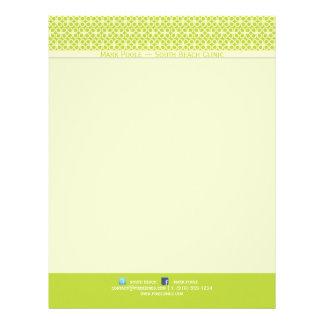 PixDezines diy background color/clovers Letterhead