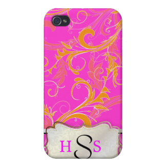PixDezines diy background color/creamsicle swirls Cases For iPhone 4
