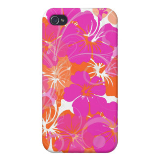 PixDezines diy background color/Maui Hibiscus iPhone 4/4S Covers