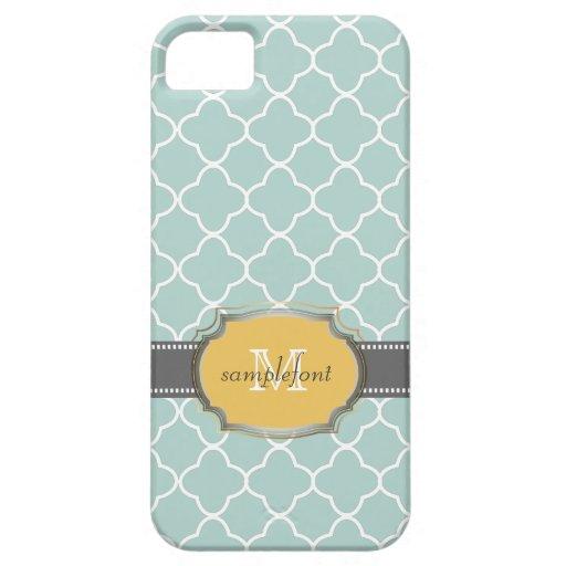 PixDezines diy background color/quatrefoil pattern iPhone 5 Cover